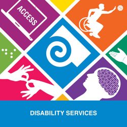 50th anniversary logo for Disability Services