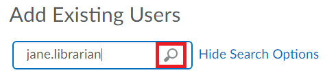 Search For Users button