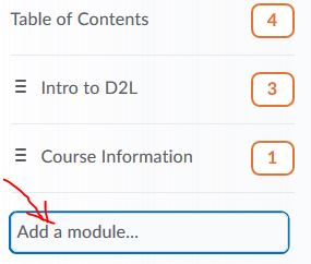 Add a module field