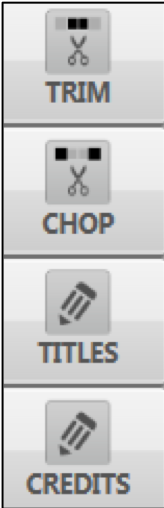 Editing tools window