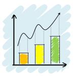 A graph showing increasing usage