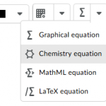 Select Chemistry equation as an option