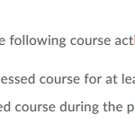 course activity setting in D2L intelligent agent