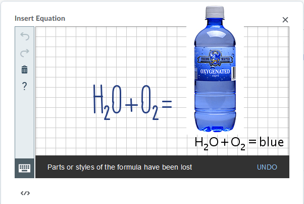 The handwriting mode allows you to mouse, touch, etc. to create equations.