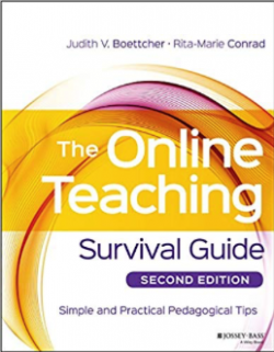 The cover of the Online Teaching Survival Guide