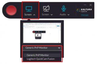 One screen recording option