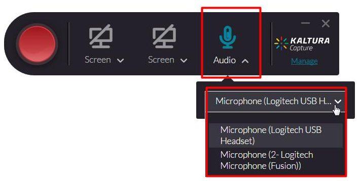 Kaltura Capture Audio recording only