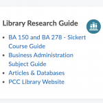 The new library widget has more options, including custom course guides