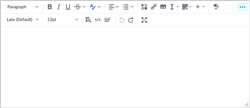 The new Brightspace Editor