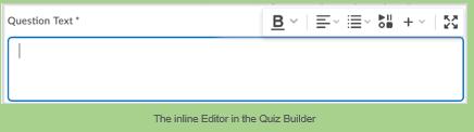 new inline editor