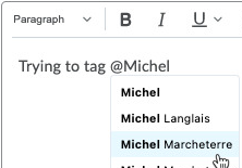 adding @mention to discussion
