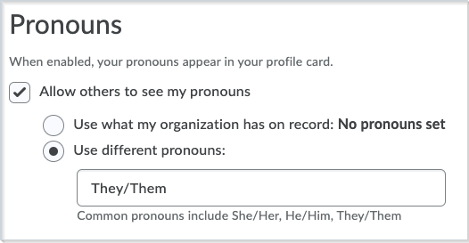 You can set your own pronouns on your profile.