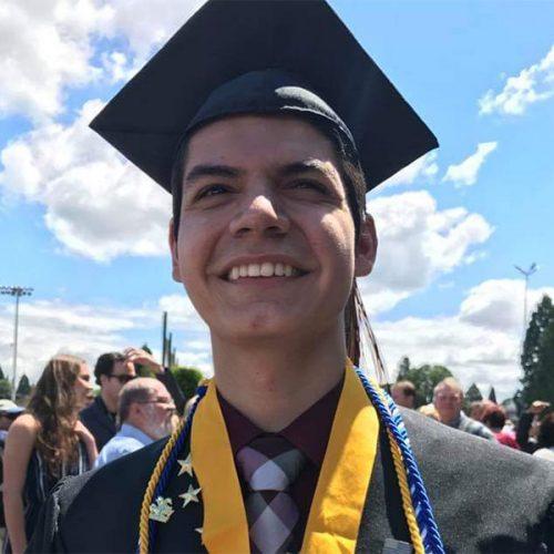 Frank Flores at his PCC graduation