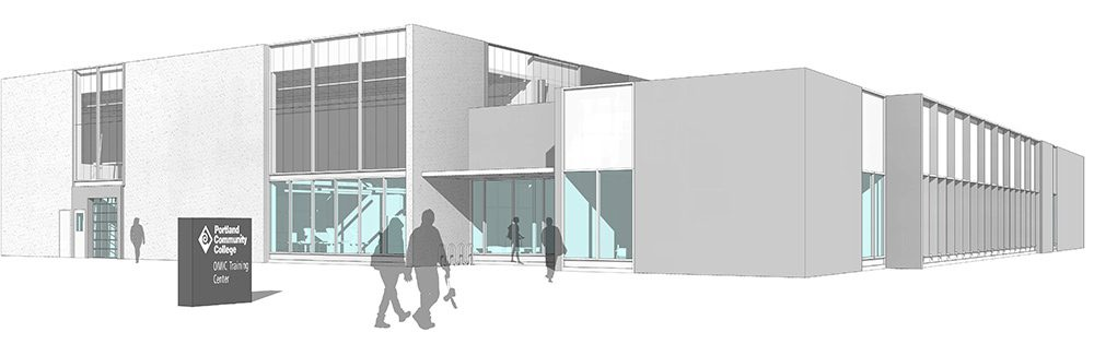 Rendering of the new OMIC building