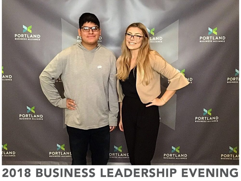 Elsa and Anthony at the 2018 Business Leadership Evening