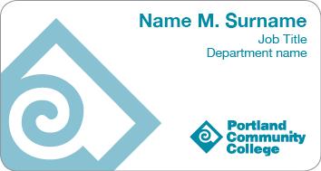 White student name tag example