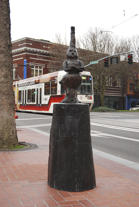 Sculpture in downtown Portland