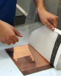 Student making a print
