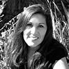 Rochelle Nielsen outside in black and white