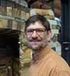 Charlie Washburn in the clay studio