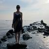 Christine Weber at the beach