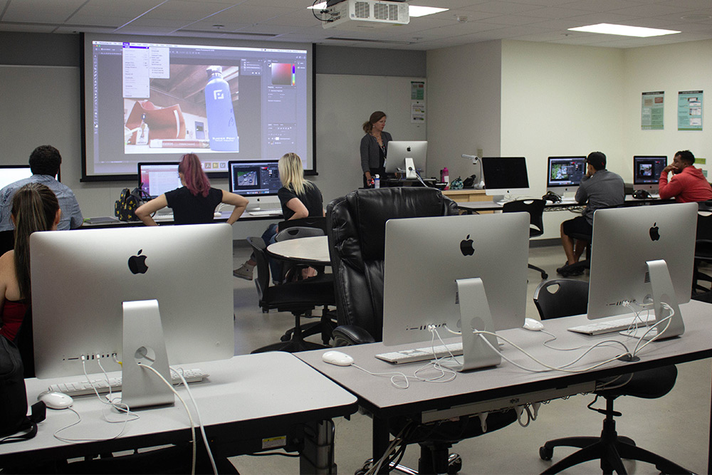 Apple computers in the photography computer studio