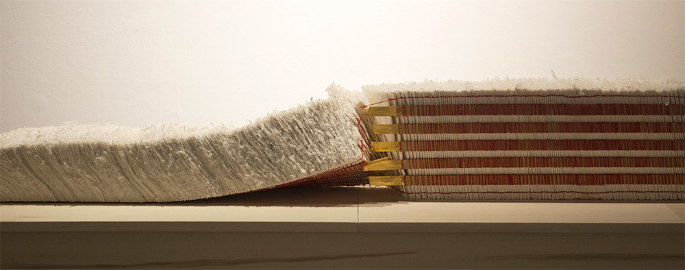 Detail of the handmade book spine and pages