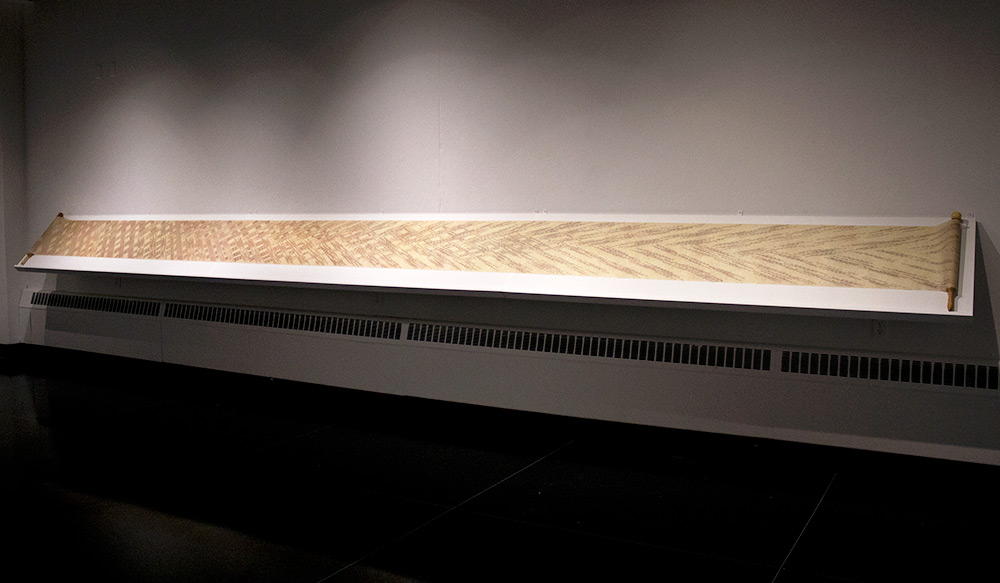 Long scroll displayed in a gallery