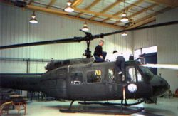 An old photo of the helicopter