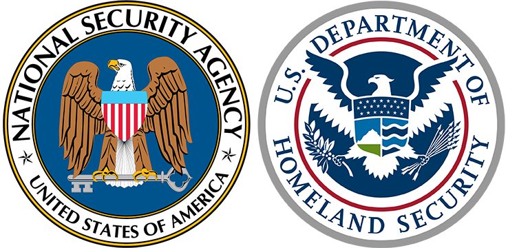 national security administration and department of homeland security logos