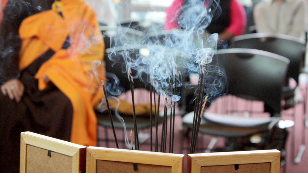 incense burning at celebration