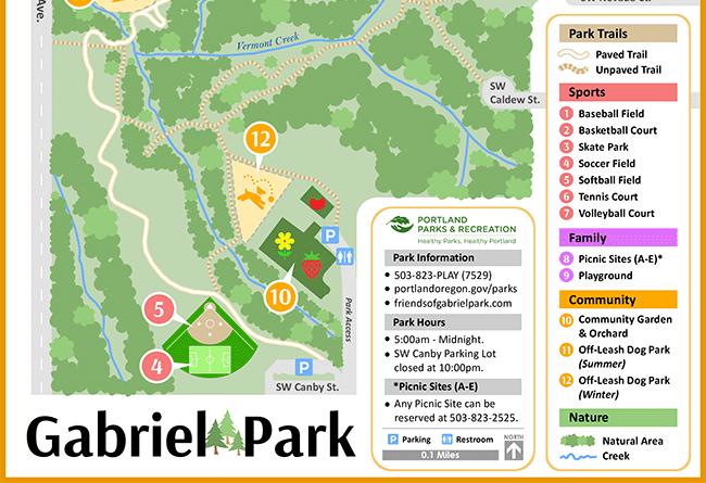 student map sample: gabriel park features