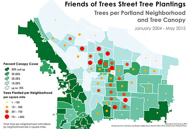 student map sample: friends of trees plantings