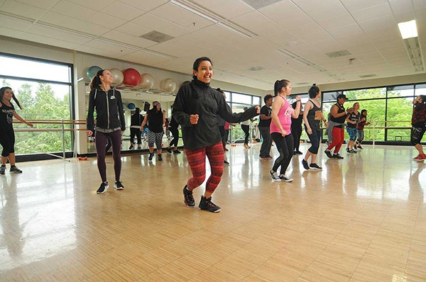 Students in a dance class