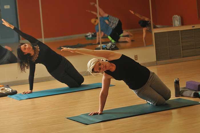 Yoga class at Sylvania