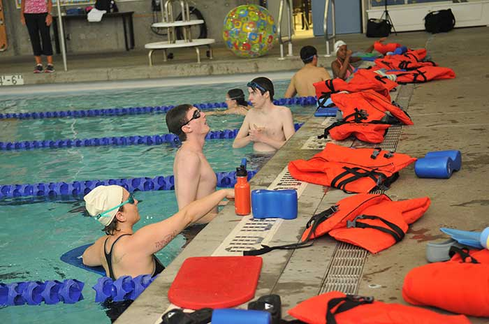 Swimming class at Sylvania