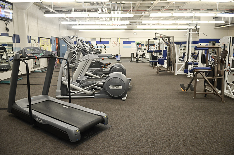 Sylvania fitness center with cardio and weight machines
