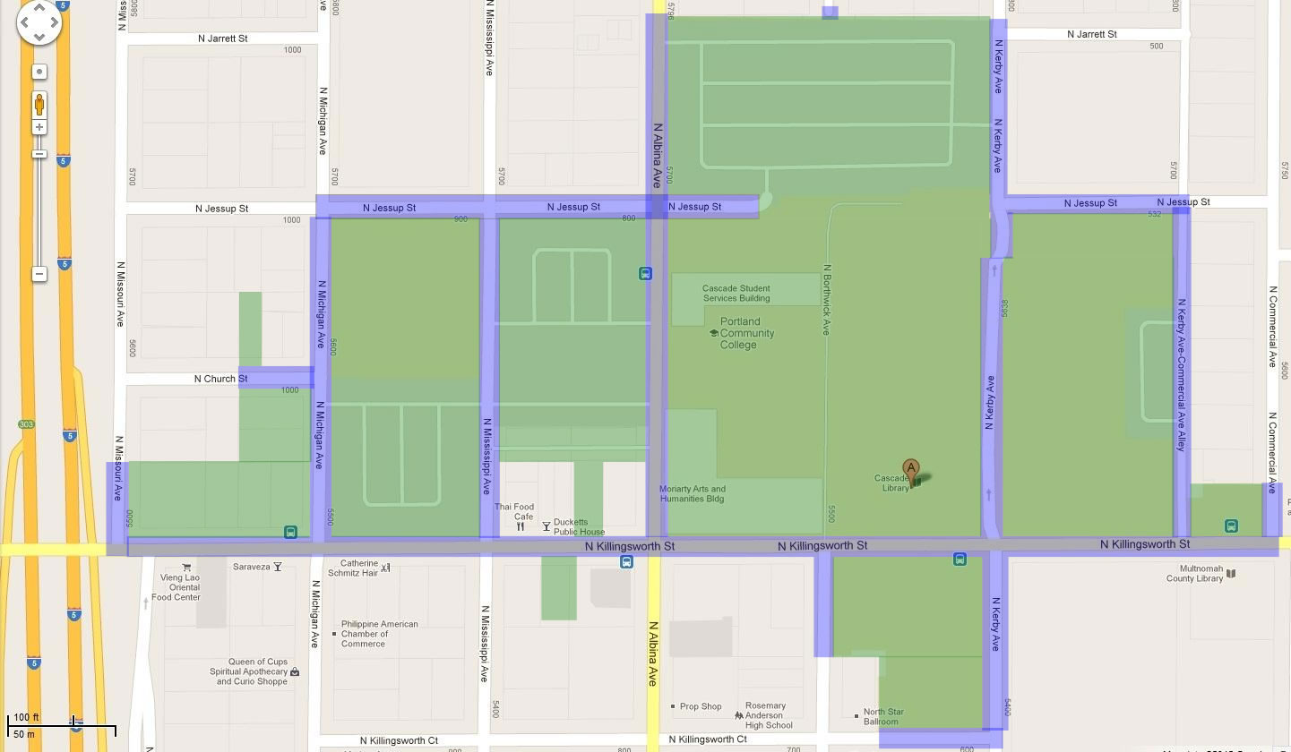 Portland Community College Sylvania Campus Map.Clery Maps Public Safety At Pcc