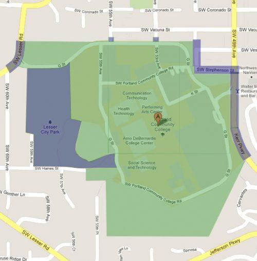 Sylvania campus map