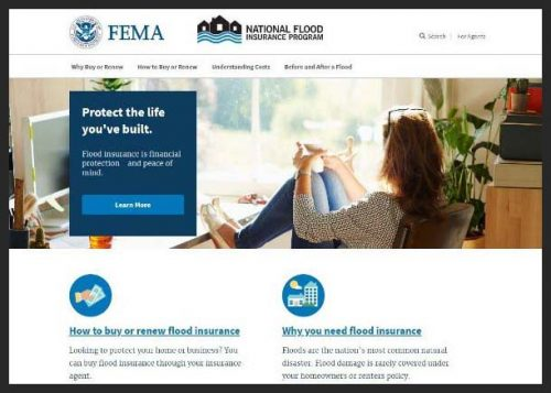 "This is an image of the FEMA ""floodsmart"" website. This image is also a link. Press Ctrl+Click to access this site."