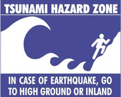 Graphic of Tsunami Hazard Zone