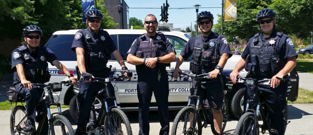 Public Safety officers with their bikes