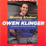 Missing student - Owen Klinger