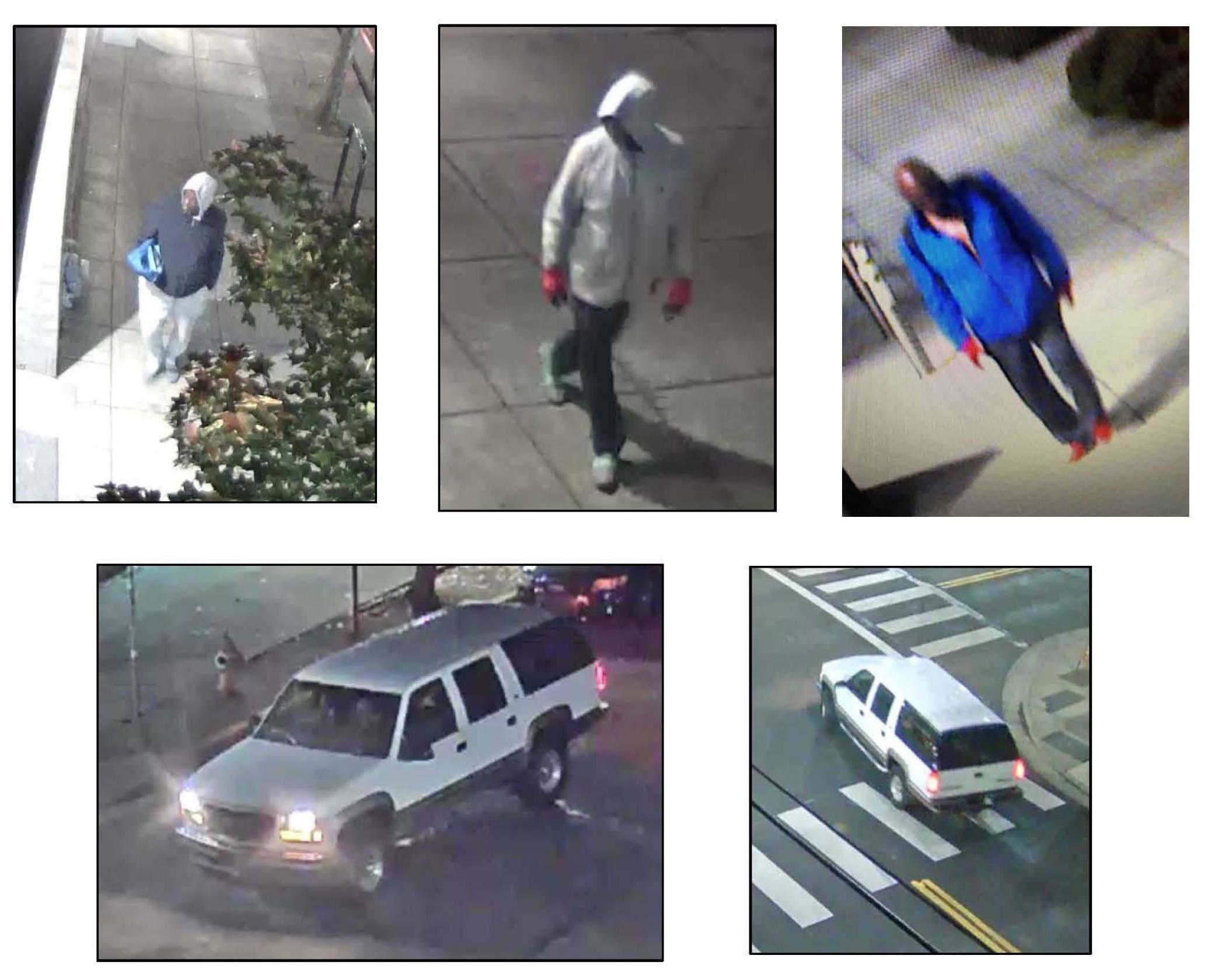 images of suspect, described below