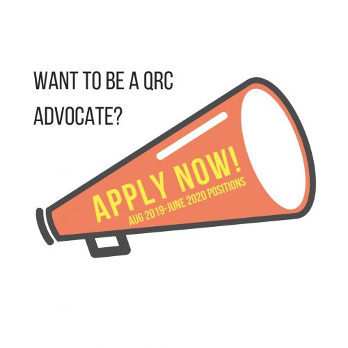 Want to be a QRC Advocate? Apply now!