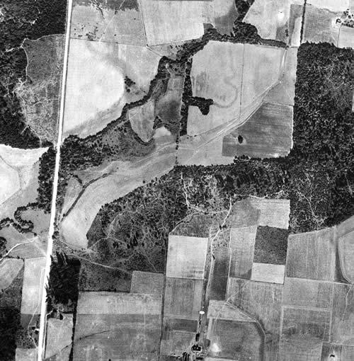 1936 Rock Creek aerial photo