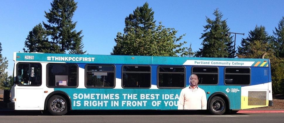 PCC recruitment branded TriMet bus