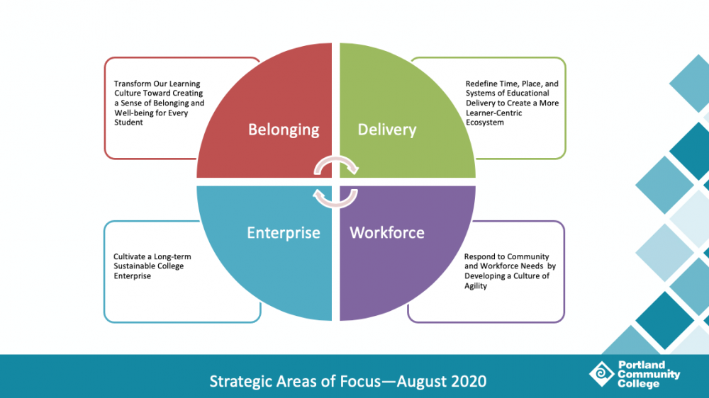 Strategic areas of focus August 2020 graphic, text description below