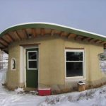 cob structure in the snow