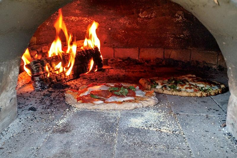 Pizza in cob oven